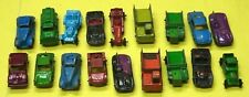 Vintage Tootsietoy Diecast Pressed Steel Cars & Trucks-Used,Playwear 18pcs
