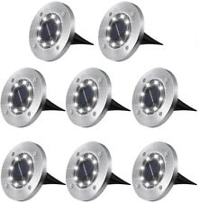 8PCS Solar Light Ground Garden Outdoor Lamp 8LED LED Garden Lights