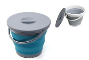 Foldable Bucket with Cover Carwash Durable Silicone Cleaning Tool for Outdoor