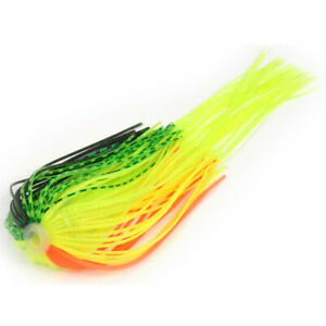 Strike King Magic Tail Spinner Bait Skirts Chartreuse Silver Lot of 5