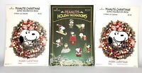 Vtg Lot Hallmark Peanuts Gang Christmas Ornaments Decor Snoopy Press Punch Out