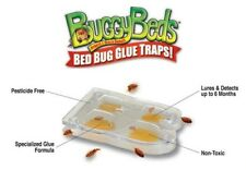 BUGGY BEDS BED BUG MONITOR - 4 PACK - Detect Bedbugs - Plastic Glue Trap & Lure
