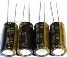 4x Panasonic Fm 1000uf 16v Low Esr Radial Capacitors Caps 105c 10mm 10x20