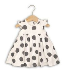 baby girl cream and dark grey Babaluno jersey dress 12-18m, summery and stylish