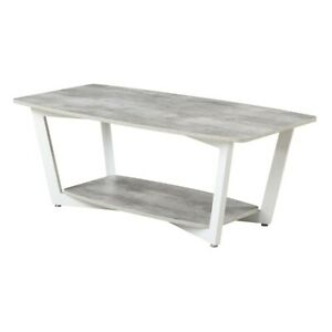 Convenience Concepts Graystone Coffee Table, Gray/White - 111282GYWF