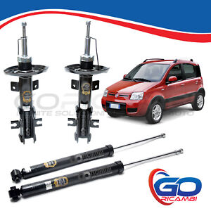 KIT 4 AMMORTIZZATORI ANTERIORI+POSTERIORI FIAT PANDA 1.2 Natural Power METANO