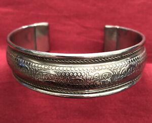 Vintage Indian Silver Plated Elephant Bangle