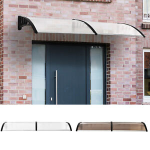 Outdoor Curved Window Porch Door Canopy Awning UV Water Rain Snow Cover 0.8 x 2m