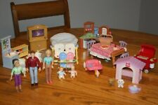 Fisher Price Loving Family Dollhouse Family Furniture Twins Kitchen Bathroom ++