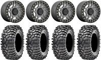 "KMC Recon Beadlock 14"" Wheels Gm 30"" Roxxzilla 396 Tires Kawasaki Mule Pro FXT"