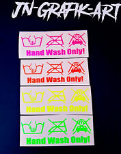 Main Wash Only Autocollant Limited voiture sticker tuning JDM neon rouge jaune vert rose