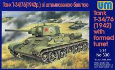 1/72  WWII Tank T-34/76 (1942) with formed turret UM 330 Models kits