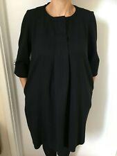 LOUIS VUITTON UNIFORMES BLACK MATERNITY TUNIC DRESS - SIZE 38