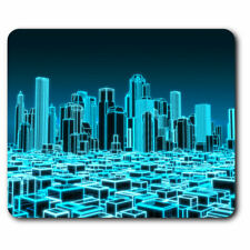 Computer Mouse Mat - 3D Holographic City Urban Office Gift #2399