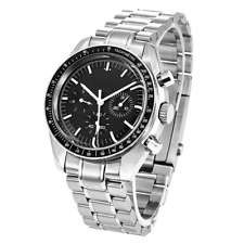 40mm Custom Men's Watch Nologo 6-hands Automatic Moonwatch With DAY DATE