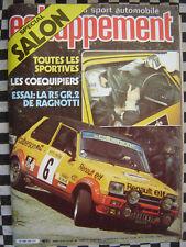 ECHAPPEMENT 1980 RENAULT 5 ALPINE GR.2 RAGNOTTI / BUGGY SUNHILL /SALON SPORTIVES