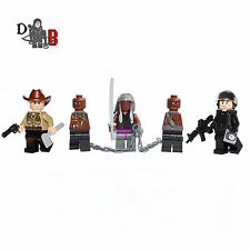The Walking Dead Minifigures Rick Michonne & Glenn made with LEGO & custom parts