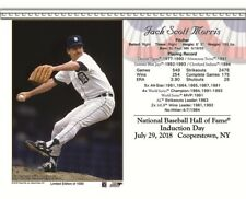 JACK MORRIS DETROIT TIGERS 8X10 2018 HALL OF FAME INDUCTION DAY CARD