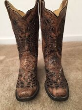 Corral Women's Sequins & Crystal Western Boots 7M