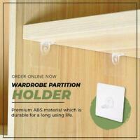 Wardrobe Partition Holder | Premium ABS Non Trace & Nail-free Bracket 1/10Pcs