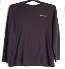 AND1 Mens L/S Waffle Shirt Color Gray Size XLarge
