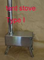 Stainless Steel  Portable Military Wood Heater Tent Stove Camping Ice Fishing