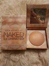 Urban Decay Naked ILLUMINATED Shimmering Powder for Face & BODY W/BRUSH AURA NIB
