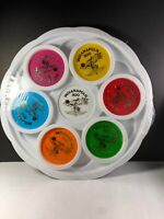 VTG Indianapolis Motors Indianapolis Speedway 500 Plastic Coasters 6 And Tray