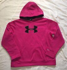 Girls Under Armour Storm Hoodie Pink YXL
