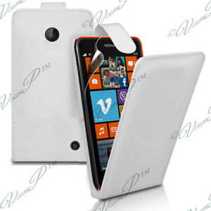 Covers Case Cover Wallet Leatherette Folding White Pr Nokia Lumia 630 635