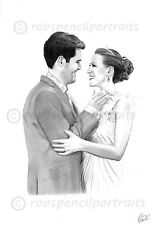 WEDDING PORTRAIT Drawing Art Unique Bespoke Wedding Anniversary Present Gift
