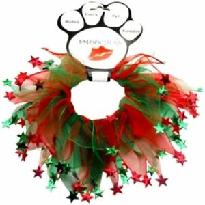 Mirage Pet Products, Holiday Stars Smoochers Decorative Pet Collar, XL-Free Ship