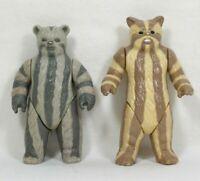 "Vtg 1983-1984 EWOKS Logray Medicine Man & Teebo 3"" Tall Action Figures"