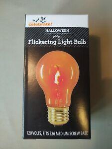 Christmas Halloween Flickering Light Bulb - 1-Watt, Fits E26 Medium Screw Base