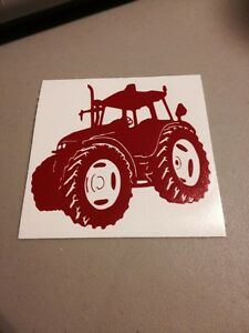 Red Tractor Vinyl Die Cut Decal,window,car,truck,farm,laptop,funny,country