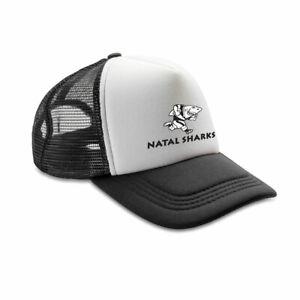NATAL SHARKS rugby retro adjustable trucker cap [black/white]