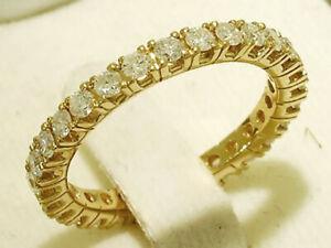 R122 Genuine 9K, 14K, 18K Gold Natural Diamond 1.00ct Full Eternity Wedding Ring
