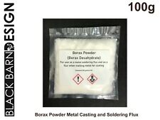 REGNO Unito Borace IN POLVERE – Flux colata in metallo/METALLO Saldatura/crogiolo vetri 100g