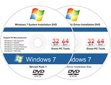 Windows 7 (SP1) 32 & 64 bit Reinstall Install DVD Disc All Version