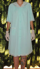 Vintage Light Blue Shadowline Nightgown M sleepwear pajamas nightie pinup 1950's