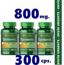 MUR041- TURMERIC - CURCUMA - 800 mg/3x100c SALUD CEREBRAL Puritans ENVIO24h