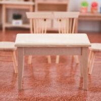 1:12 Desk Table Dollhouse Miniature Mini Furniture Decor Educational Toy For