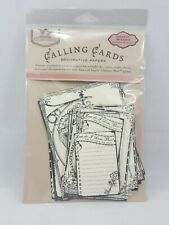 Tattered Angels Calling Cards Decorative Papers Vintage Season's Timeless...