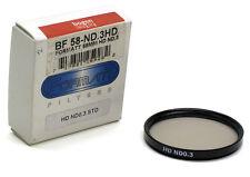 Formatt Hitech HD ND .3 58mm Neutral Density Filter BF 58-ND.3HD 0.3 STD
