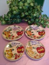Tabletops Gallery Frutas™ 4 Plates, 2 Salad U0026 2 Dinner Hand Painted U0026  Crafted