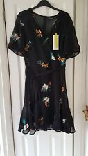 Karen Millen Fliral Embroidered Mini Dress Size 12