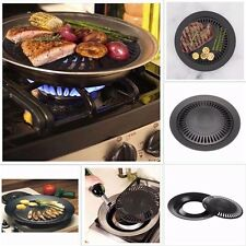 Kitchen Smokeless Stove Top Barbecue BBQ Indoor Grill Nonstick Pan Griddle