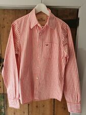 Mens Hollister Shirt in Pink & White Stripe Size Small Ex Cond