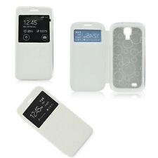 % Flip Case Handy Tasche Etui S-viev Cover Samsung Galaxy S4 I9500 i9505weiß