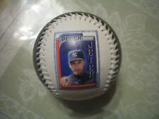 NY YANKEES, DEREK JETER BEAUTIFUL COLORFUL SOUVENIR BASEBALL, EX+++, WOW!!